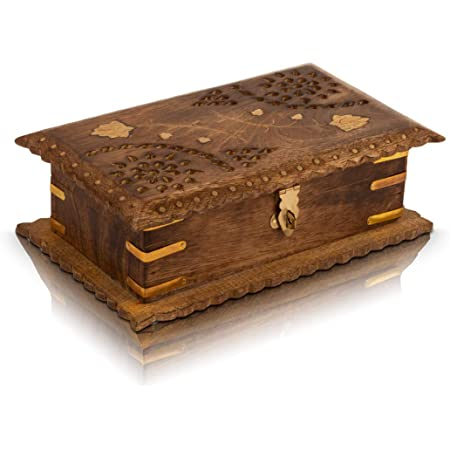 New Home Decorative Wood Box With Lid Housewarming Gift 5th Anniversary Wood Paper Clip holder Christmas Gift for Her Jewelry Storage
