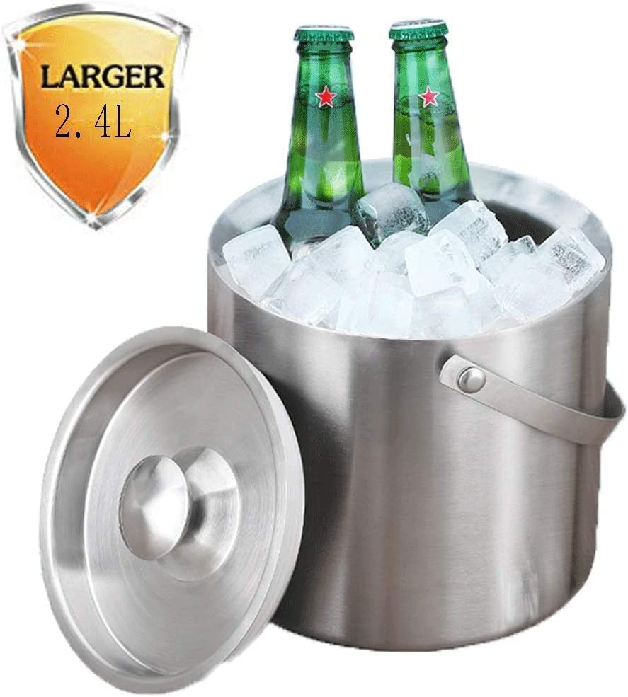 Boston Mall KONGZIR Ice Buckets Bucket Large Stainless Steel Party Bowl Max 86% OFF