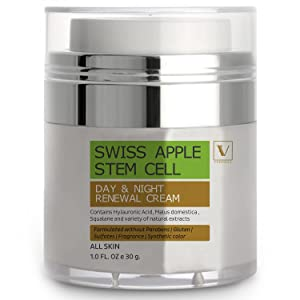 SWISS APPLE STEM CELL DAY & NIGHT RENEWAL CREAM for face,eyes,neck (30 ml.)
