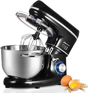 Nidouillet Robot Pâtissier, Mixeur Électriques de Cuisine, 6 vitesses, Mixeur à Aliments avec Crochet Pétrisseur, Fouet et...