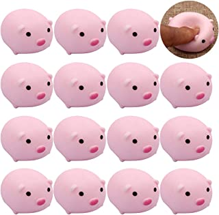 FunPa 15PCS Infants Bath Toy Cute Pig Squeaky Toy Bathtub Toy Screaming Toy Shower Toy
