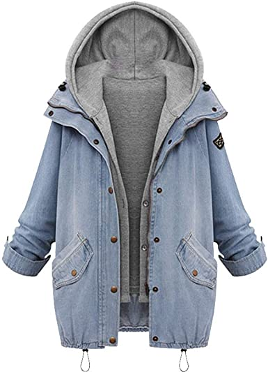 Winter Hooded Coat,Teen Girls Fashion Patchwork Thin Jacket Zipper Long Sleeve Cardigan