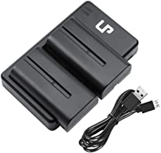 LP NP-F550 Battery Charger Set, 2-Pack Battery & Dual Charger, Compatible with Sony NP F970, F960, F770, F750, F570, F550, F530, F330, CCD-SC55 &More