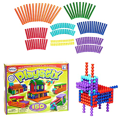 POPULAR PLAYTHINGS Playstix Construction Toy Building Blocks Set