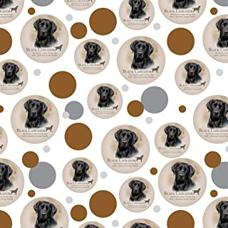 GRAPHICS & MORE Black Lab Labrador Dog Breed Premium Gift Wrap Wrapping Paper Roll
