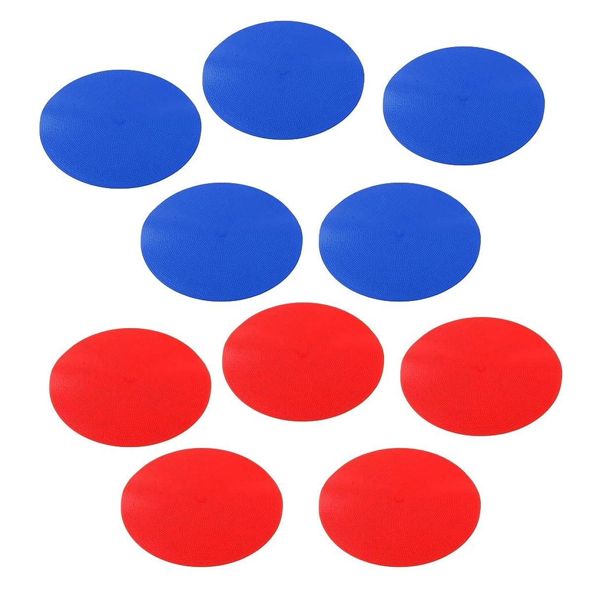 あいさつほとんどの場合のホストPerfeclan フラットマーカー スポットマーカー 敏捷性のトレーニング用 10枚 ブルー&レッド
