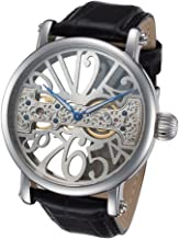Skeleton Face Watch with Bridge Mechanical Movement by Rougois
