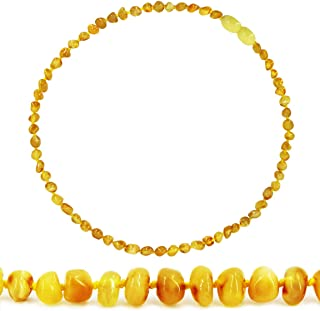 Temgee Baltic Amber Necklace Gift Set - Raw Amber Necklace - Anti-Flammatory, Pain Relief (Butterscotch, 12.5in)