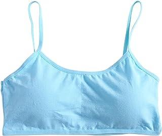 Brassieres Fille 8-12 Ans Lunji Soutien-Gorge sans Armatures Coton Confortable