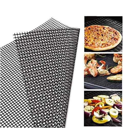 JRXyDfxn 1PC BBQ Grill Netzmatte Non-Stick Cooking Mats Grilling Noten Liner Wiederverwendbare Grill Zubehör für den Einsatz auf Gas, Kohle, Elektro-Grill (30 * 40CM)