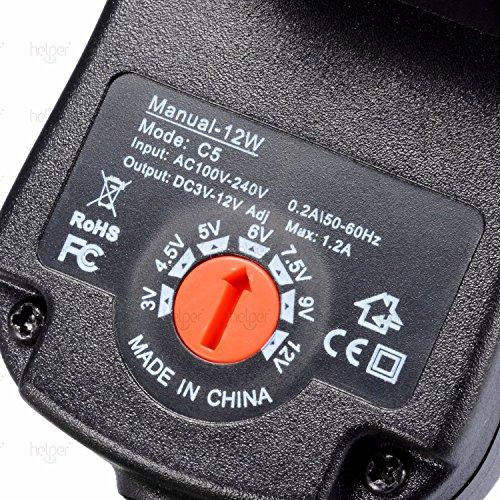 Netzstecker Universal Stecker Netzteil 12V für LED Streifen,Aquarium,CCTV Kamera,WiFi Router,Weihnachtsbaum,ESCAM QD300,Scanner,Hub,Telekom,T-Com,Speedport,Radiowecker+8 Umwandlungsköpfe