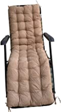 Ofit Quilted Micro Suede Chair Pads Bench Cover Patio Long Chair Cushion Pads (17x60