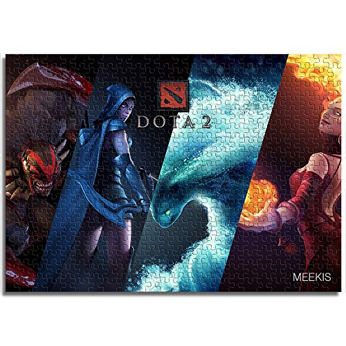 BOVIENCHE 1000 Piece Jigsaw Puzzles For Adults Wooden Dota Hero Funny Games For Family Kids Theme Puzzles Set Educational Toys (75 X 50Cm)