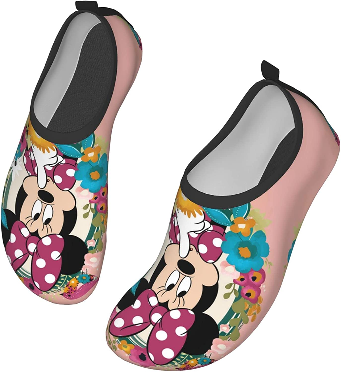 Mawon Mick-Ey and Minnie Mouse Water Shoes Men's Women's Swim Shoes Barefoot Beach Pool Shoes Quick-Dry Yoga for Surf Swim Water Sport
