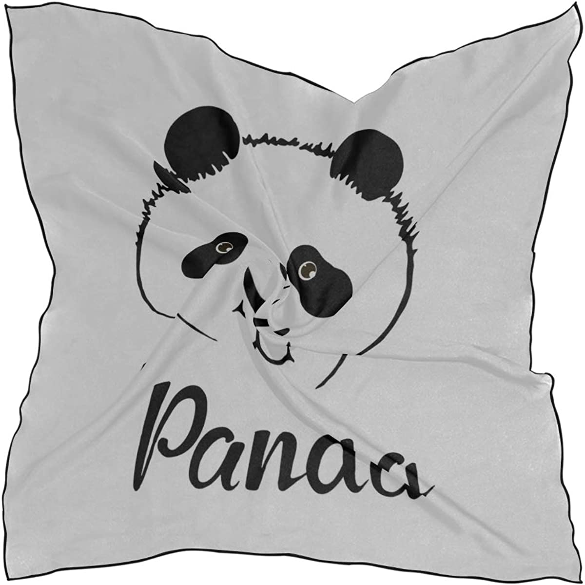 Soft Polyester Silk Scarfs For Women Lightweight Fashion Print Chinese Panda Cartoon Fashion Scarf Scarves Wall Scarf Straight Hair Scarf Multiple Ways Of Wearing Daily Decor