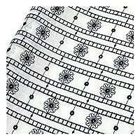 ガーゼ生地 綿 無地 刺繍生地 手作りガーゼ ハンドメイド DIY ドレス生地 手芸 縫製用 幅138cm 1yard ネイビー B