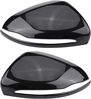 Qiilu 1 Pair Carbon Fiber Rearview Mirror Cover Fit for Mercedes Benz C/E/GLC/S Class W205 W213 X253 W222