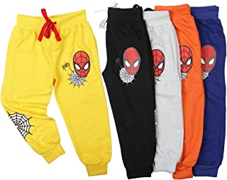 Fingers Boys Girls Joggers Pack of 5 Comfy Sweatpants Trackpant for Indoor Outdoor Activities with Cute Spideyweb Theme