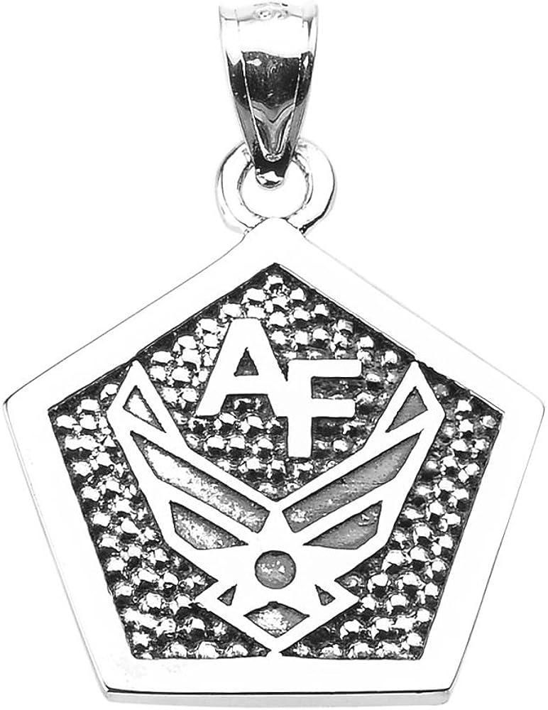 American Heroes Nashville-Davidson Mall 925 Sterling Silver Force Air 25% OFF Engravable Pentago