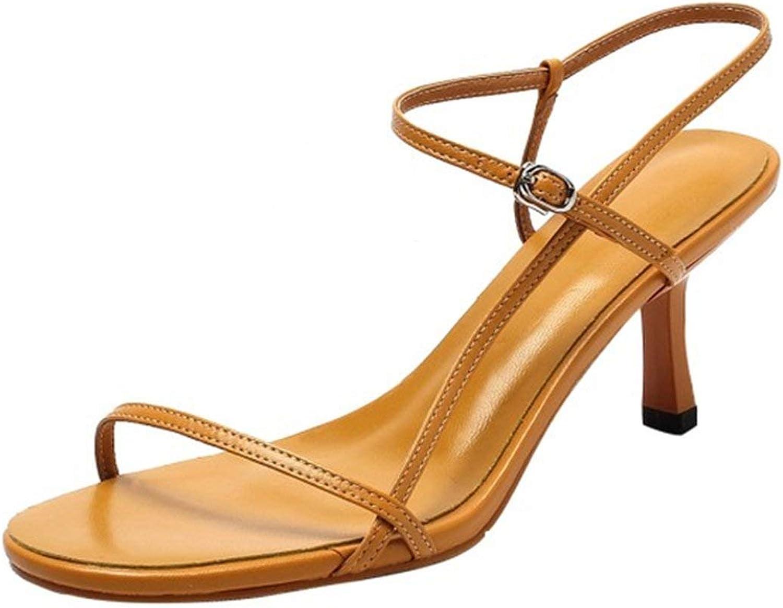 Sonder-Store Women's Simple Geblackus Casual shoes High Heel Sandals Sexy Slipper Open Toe