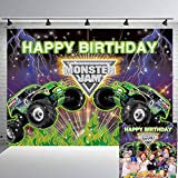 Monster Jam Backdrop Monster Truck Background Racing Car Stadium Auditorium Light Photography Background Terrain Vehicle ATV Locomotive Racing Enthusiast Theme Party Photo Booth Props 7x5ft