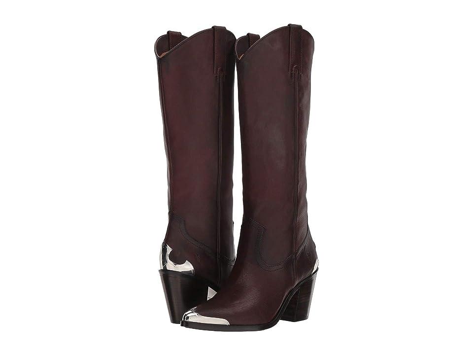 Frye Faye Metal Plate Pull-On (Redwood Oiled Vintage) Cowboy Boots