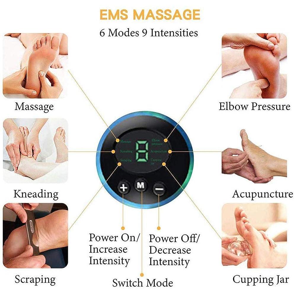 教脅かす気体の折り畳み式ポータブル電気マッサージマット、血液循環の改善、リリーフフィートの腫れと痛み、マルチツボマッサージマット,A~charging
