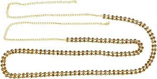 ACCESSHER Glittering 2 Line Stone Waist Hoop Waistbelt Kamarband for Women