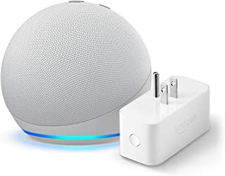 All-new Echo Dot (4th Gen) + Amazon Smart Plug | Glacier White