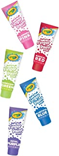 Crayola Bathtub Fingerpaint 2018 5 Color Variety Pack, 3 Ounce Tubes ( Radical Red, Screaming Green, Flamingo Pink, Blueti...