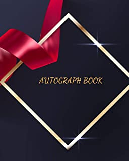 Autograph Book: Blank Unlined Keepsake  Memory Book  for All your Favourite Celebrities, Sports Stars , Disney Cartoon Characters & Stars Autograph Book For Adults and Kids