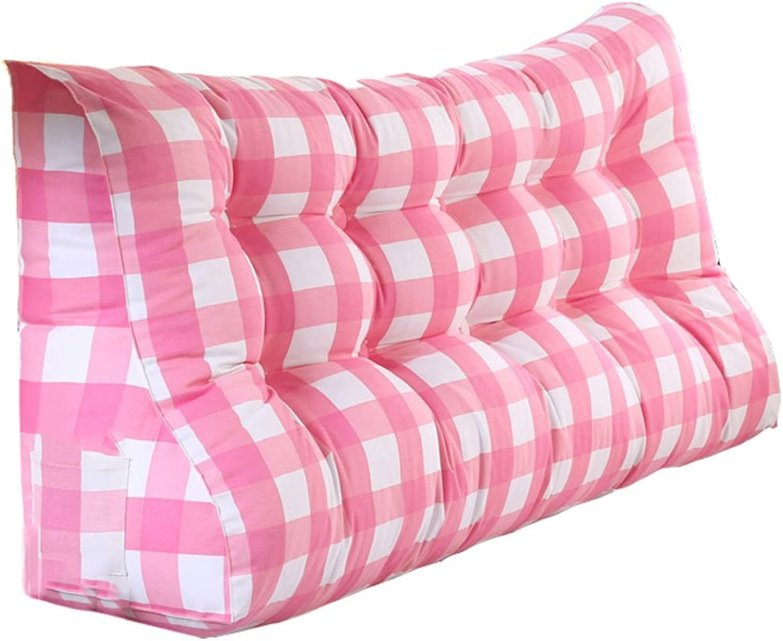 XXT-oreiller Appui-tête de lit Coussin Triangle Coussin épais Coussin épais Coussin de Taille Coussins de canapé Coussin Amovible et Lavable (Couleur   C, Taille   100cm)