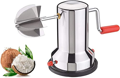 RD Collection OZZBY tainless Steel Vaccum Base Coconut Scraper Coconut scrapers Machine Coconut scrapers Latest Coconut graters Coconut graters for Kitchen Coconut Crusher Machine