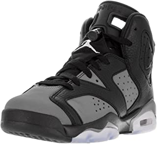 new styles fd66f f05ac Jordan Kid s Air 6 Retro BG, Black White-Cool Grey, Youth Size