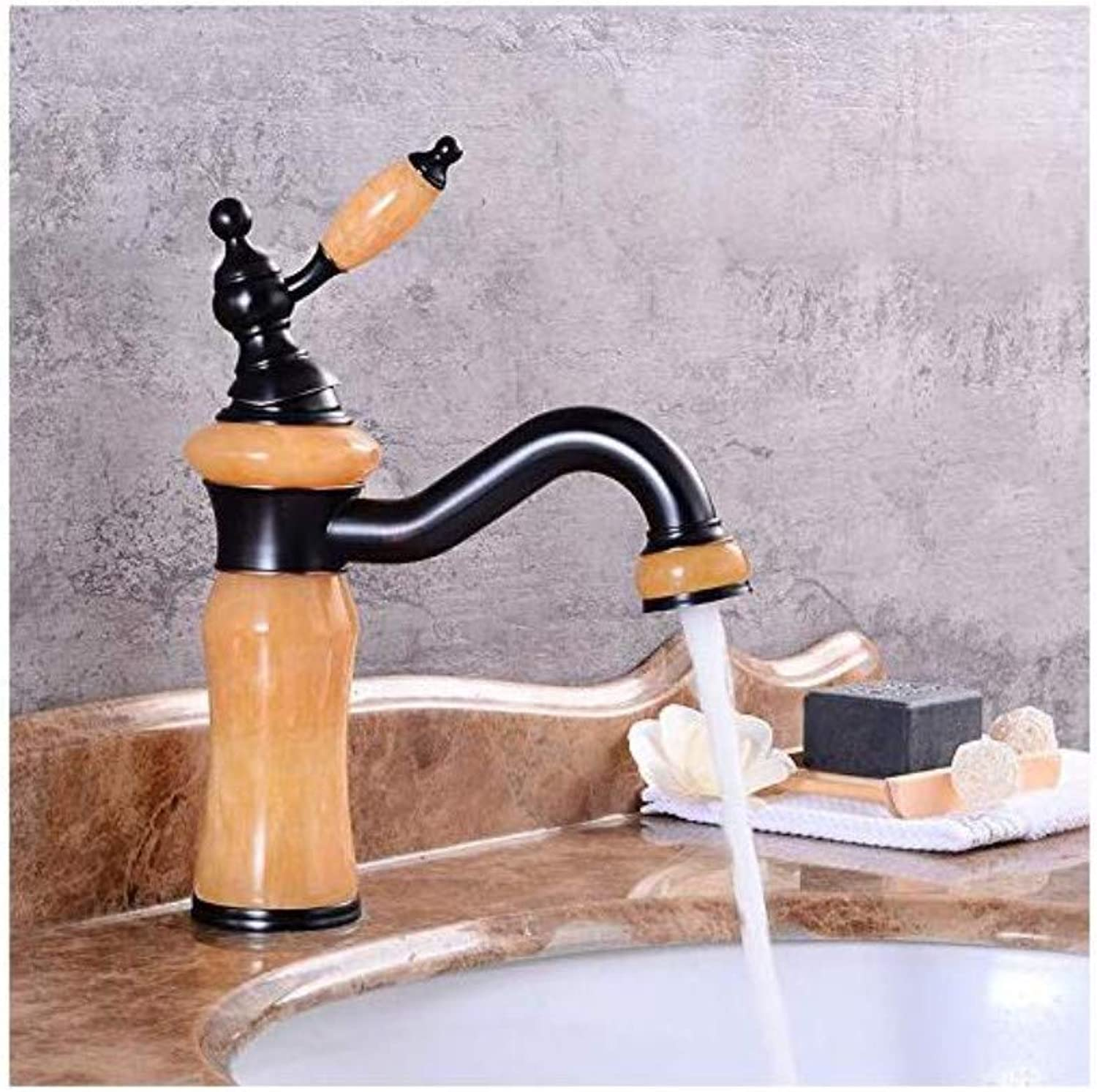 Modern Plated Mixer Faucet Faucet Copper gold Jade redatable Basin Faucet Hot and Cold Water Mixer Faucet
