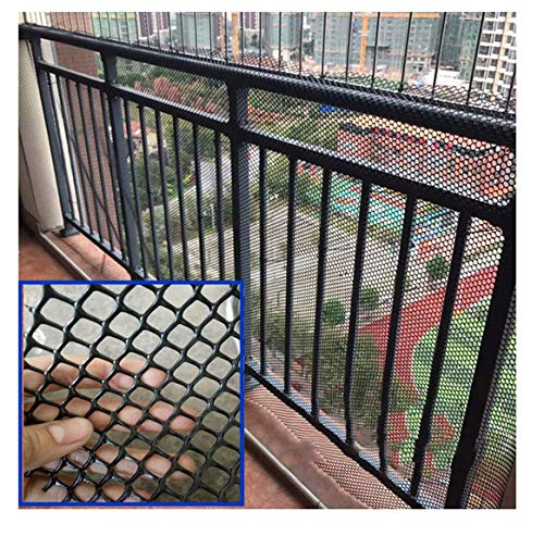 Child Safety Net, Black ABS Plastic Flat Net, Balcony Stair Fence Net, Household Breeding Net Cat Net Climbing Plant Support Net 1x10m (Size : 19m(329ft))