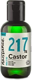 Naissance Organic Cold Pressed Castor Oil 60ml - Puur, Gecertificeerd Biologisch, Ongeraffineerd, Veganistisch, Hexaanvri...