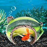 Aihotim Aquarium Decoration Watermelon House Shelter, Fish Hiding Cave Fish Tank Bubbler Ornaments, Aerating Action Landscape Decor Come with Air Stone for Betta Turtle Sleep Rest Hide Play Breed