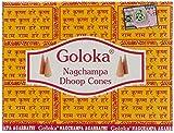 GOLOKA McGuinness Champa- Juego de 12 Paquetes de Conos de Incienso