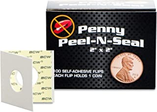 """Pack of 100 2/""""x2/"""" Coin Holders 15mm Self Adhesive"""