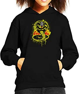 Cloud City 7 Strike First Cobra Kai Snake Logo Kid's Hooded Sweatshirt