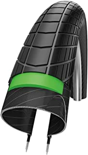 Schwalbe Big Apple Plus Performance Line Twin Skin Green Guard Endurance Wired Tyre-Reflex Black, 28 x 2.0 Inch
