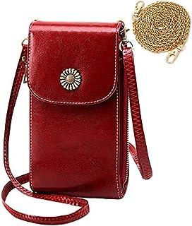 HAIWILL Handy Umhängetasche Damen, Handytasche zum Umhängen Leder, Frauen Klein Crossbody Tasche Handy Geldbeutel mit Tasc...