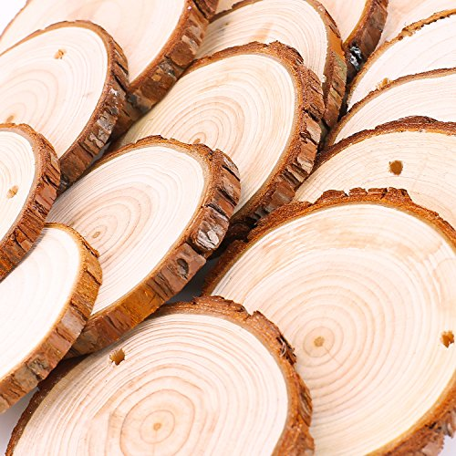 Holzscheiben mit Loch | 30 Stück