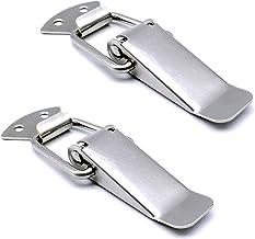 Spansluiting roestvrij staal Haspe kistsluiting zilver hefboomsluiting voor Case Box, Toolbox, lade, kast, kist (2 stuks)