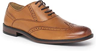 NOBLE CURVE Tan Leather Oxford Brogues Shoes