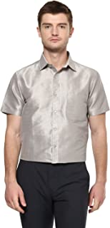 Khoday Williams Men's Poly Silk Fabric Half Sleeves Casual Shirt and Festivals, Regular Fit