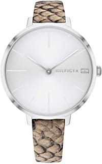 Tommy Hilfiger Women'S White Dial Multicolor Leather Watch - 1782162