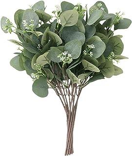 GDORUN 10PCS Eucalyptus Artificial Flowers Artificial Eucalyptus Branches Fake Eucalyptus Plant Fake Flowers (Faux Eucalyp...