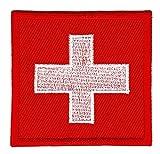 Patch Flagge Schweiz Aufnäher Bügelbild